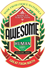 AWESOME HUMAN beer label