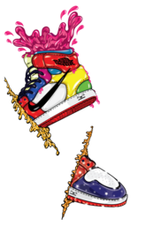 this is a custom creative art portraying the beauty of imagination for every NIKE kicks lovers