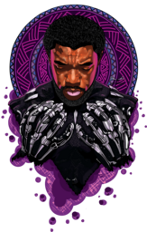 this is a custom creative art of the late Chadwick Bossman popular for acting as Black panther a marvel character