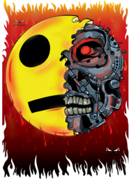 this is a creative art. shows the beauty of creativity and originality. an emoji from hell. Hellmoji