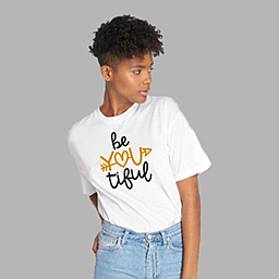 Be yourself, You're perfect just the way you are | Unisex White T-shirt | 100% Combed Organic Cotton Jersey | 175 g