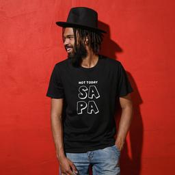 Unisex Black T-shirt | 100% Combed Organic Cotton Jersey | 155 g