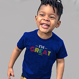 An inspiration for your kids | Navy Blue Kids T-shirt | Organic T-shirt