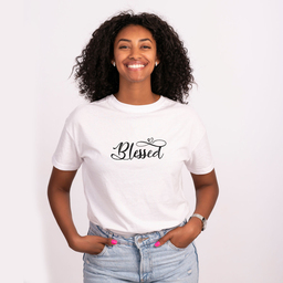 A Customized t-shirt that will brighten up your mood | Unisex Black T-shirt | 100% Combed Organic Cotton Jersey | 175 g