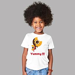 An engaging customized t-shirts for kids | White Organic Kids T-shirt