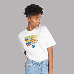 An inspirational t-shirt that speaks about your limitlessness | Unisex White T-shirt | 100% Combed Organic Cotton Jersey | 175 g