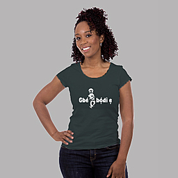 A Custom T-shirt with a trending slang for ladies |Women's burnout jersey t-shirt | 50% Combed Cotton 50% Polyester