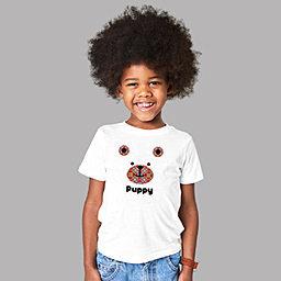 A custom t-shirt for lively kids |White Organic Kids T-shirt