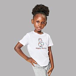 A custom t-shirt for lively kids |White Organic Kids T-shirt