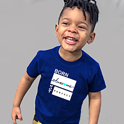 A custom t-shirt for lively kids |Navy blue Organic Kids T-shirt