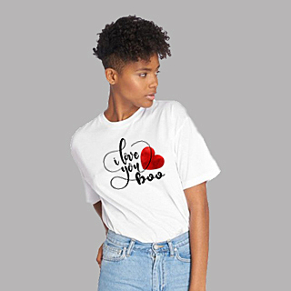 Showing you love your man   White Unisex Classic Jersey T-shirt   155 g   100% Combed Organic Cotton
