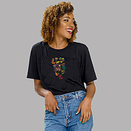 Encouraging the act Love | Black Unisex Classic Jersey T-shirt | 175g | 100% Combed Organic Cotton