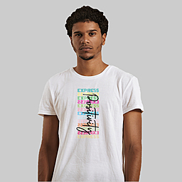 An inspiration to be positive always |100% Combed Organic Cotton Jersey | 175g