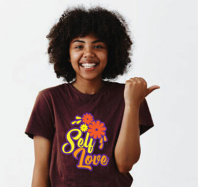 look good when you wear self love custom tee