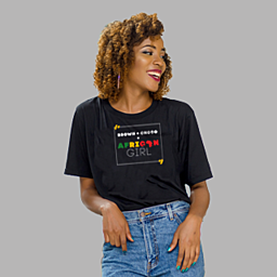 For those who are proud of their skin color   Black - Unisex Classic Jersey T-shirt   155 g   100% Combed Organic Cotton