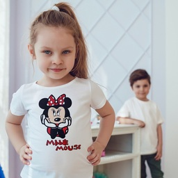 The design on this product is inspired by the popular minni mouse cartoon