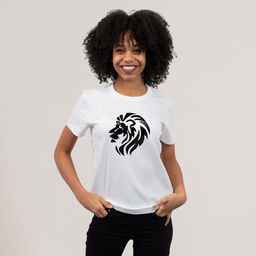 A lion represents a born leader, yet someone who is in complete balance and harmony with nature | Unisex Classic Jersey T-shirt | 155 g | 100% Combed Organic Cotton