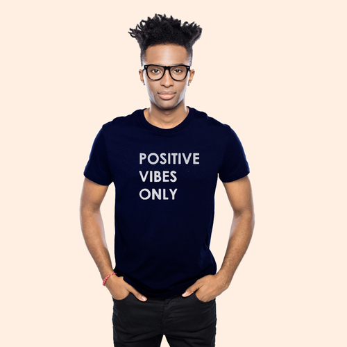 This tee inspires you to do away with any negative energy   Unisex Classic Jersey T-shirt   155 g   100% Combed Organic Cotton