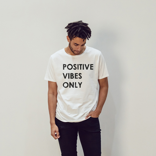 This tee inspires you to do away with any negative energy | Unisex Classic Jersey T-shirt | 155 g | 100% Combed Organic Cotton