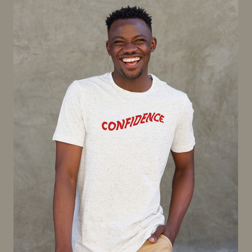   Unisex Black T-shirt   100% Combed Organic Cotton Jersey   175 g