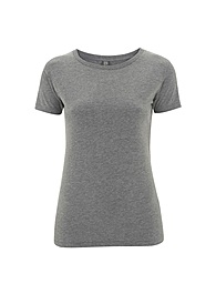 Combed Cotton Jersey T-shirt - Melange Grey