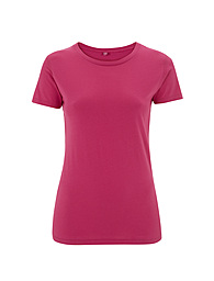 Combed Cotton T-shirt - Raspberry Pink