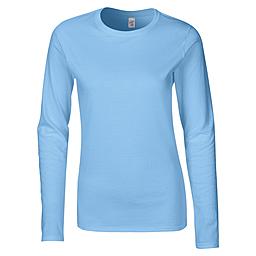 Sky Blue long-sleeve female t-shirt