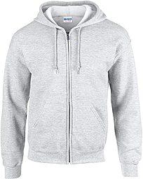 Unisex Pullover Zipper Hoodie - Grey
